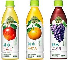 キリン 小岩井純水ぶどう・りんご・みかん 430ml